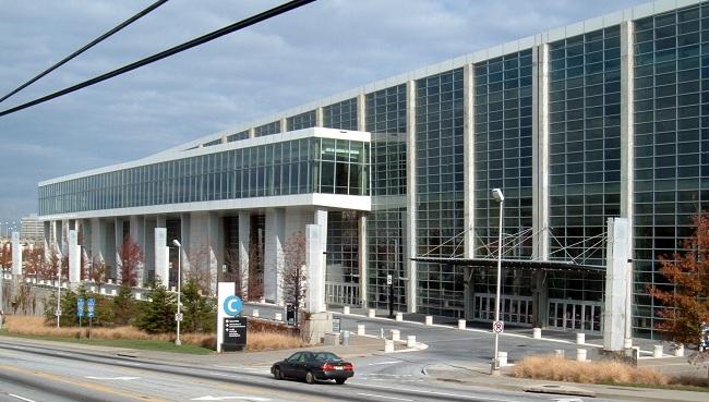 Georgia World Congress Center - Olympia Austragungsort der Tischtennis Wettkämpfe in Atlanta 1996