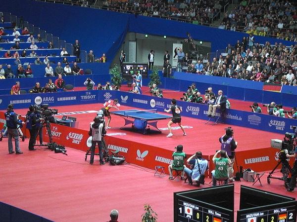 Tischtennis Halbfinale zwishen Japan und Deutschland